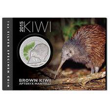 1 oz Silber Kiwi Neuseeland 2015 1 New Zealand Dollar coloriert im Blister