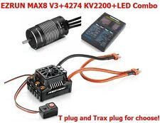 HobbyWing 1/8 EZRUN 150A ESC 2200KV Motor Brushless Combo MAX8-TPLUG Waterproof
