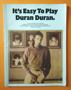 Spartito DURAN DURAN It's Easy To Play 1986 Piano Vocal English Music Sheet