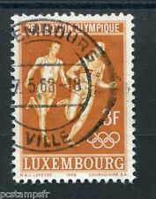 LUXEMBOURG, 1968, timbre 719, SPORT, COURSE A PIED JEUX, oblitéré, VF used stamp