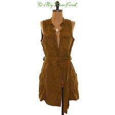 $148 FREE PEOPLE DESERT DAYLIGHT MINI BELTED WRAP DRESS GOLDEN HONEY SZ S B78