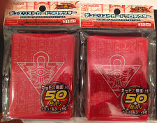 (100) YU-GI-OH standard size Millenium Puzzle Red Card Sleeves 100Pcs 63X90mm