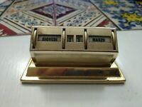 Calendrier Perpétuel Ans 50 IN Rame Avec Placage couleur dorée Vintage