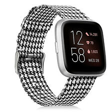 Fintie for Fitbit Versa 2 / Versa Lite Watch Band Breathable Woven Fabric Strap