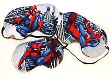 Set of 3 Sleep Masks - Spiderman Kicking Left, Right and Front  - Comes As Shown