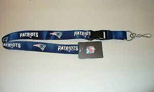 New England Patriots Lanyard With Breakaway Safety Fastener