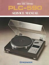 Pioneer Series 20 PLC-590 & PXM-051 motor turntable rare service manual on CD-R