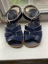 Kids Saltwater Sandals Navy Toddler SZ 9 Excellent Condition