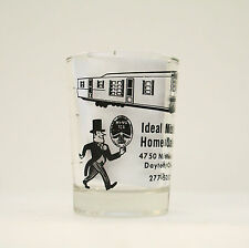 Vintage Novelty Shot Glass Ideal Mobile Home Sales Miamisburg Ohio Advertising