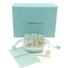 Auth Tiffany & Co. Elsa Peretti Infinity Cross Necklace 18K Yellow Gold #f38649