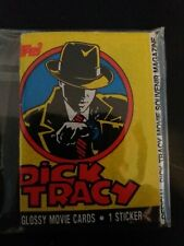 Dick Tracy - a Set of Topps 1990 Gum Cards Stickers Wrapper Poster