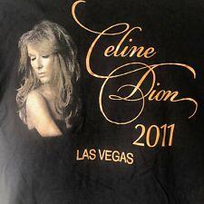 Authentic Celine Dion  Las Vegas  2011 Concert Tour T Shirt Small EUC