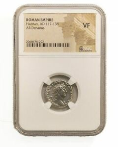 Roman Silver Denarius of Hadrian (AD 117-138) NGC(VF)