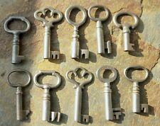 10 Antique Barrel Padlock Keys Ten Antique Pad Lock Keys