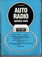 Sams Photofact-Auto Radio Manual/#AR-280/First Edition-First Print/1979