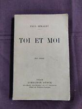 TOI ET MOI de Paul GERALDY  1923 Librairie stock