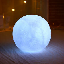 ROUND MOON SHAPE BATTERY POWERED LED LIGHT LAMP BEDROOM STUDY ROOM DECOR SUPER
