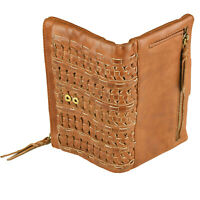 RFID Security Lined Leather Purse. Quality Full Grain Cow Hide Leather. 5930