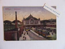 Halle a. S. Hauptbahnhof original Ansichtskarte gelaufen 2.12.1919