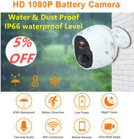 1080P WiFi Wireless Security Camera Indoor Outdoor Rechargeable Battery Powered