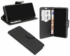 Cuero De La PU Funda Protectora Accesorio Cartera para Huawei P40 en Negro