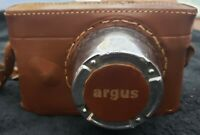 Vintage Argus Rangefinder 35mm Film Camera Leather Case