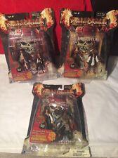 3 Rare 2007 Zizzle Pirates Of The Caribbean Action Figure Twin Packs+comic Books