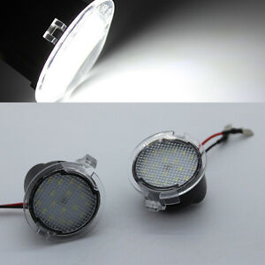 2x Error Free LED Side Mirror Puddle Lights For ford Edge Mondeo Explorer Taubus