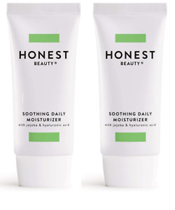 Lot of 2 Honest Beauty Soothing Daily Moisturizer, 2 oz. Each