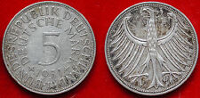 MONETA COIN GERMANIA GERMANY DEUTSCHLAND 5 MARK 1951/F FEDERAL REPUBLIK ARGENTO