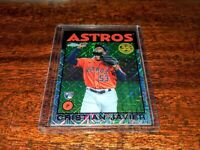 CRISTIAN JAVIER RC 2021 TOPPS CHROME SILVER PACK '86 REFRACTOR #86BC-70 ASTROS!