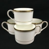Set of 4 VTG Tea Coffee Cups by Coalport Connoisseur White and Gold England