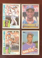 1984 1985 Topps Traded Donruss Ron Darling, Gooden, & Strawberry 4 Card 1986 Lot