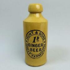 VICTORIAN HUNT & SONS GREAT YARMOUTH GINGER BEER BOTTLE C.1890