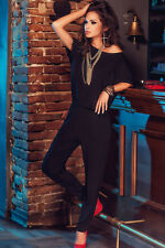 New Sexy Elegant  Black Jumpsuit Catsuit Short Sleeve Coverall Dance Club 60746