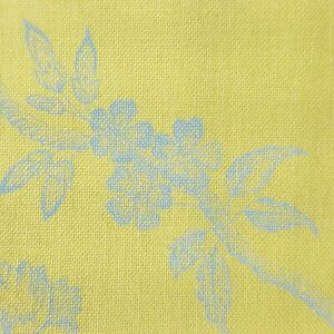Anna Griffin The Flora Collection Fabric Yellow Blue Floral Print Cotton Yard