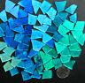 BLUE Mosaic Glass Tile: 100 pieces of BEST BLUE MIX by Makena Tile