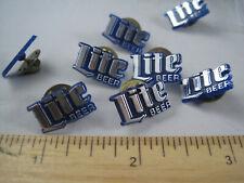 Miller Lite Pilsner Beer Pin Tie Blue Plastic