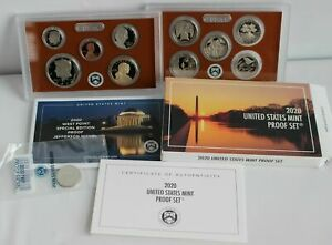 2020 United States Mint Proof Set including Jefferson proof Nickel