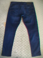MENS G STAR RAW 3301 TAPERED JEANS SIZE 36