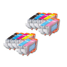 12 New Ink Pack w/ smart chip for Canon CLI-8 PC PM iP6600D iP6700D