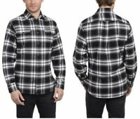 NEW Men's Black/ White JACHS Brawny Flannel L/S Shirt Size Medium M