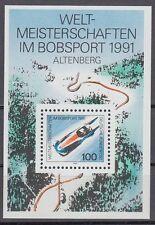 Germany Bund BRD 1991 ** Bl.23 Bob Schlitten Sledge Bobber Winter Sports