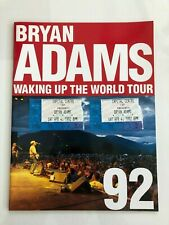 Bryan Adams Waking Up the World Tour Book w/2 Ticket Stubs Cap Centre Apr 4 1992