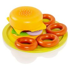 Viga KiddyPlay Wooden Hamburger & Onion Rings Set