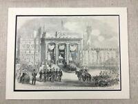 1855 King of Portugal Lisbon Portuguese Royalty Genuine Antique Print