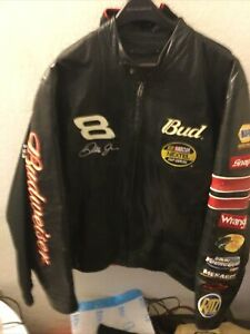 Dale Earnhardt Jr Nascar Nextel Cup Budweiser Wilsons Leather Jacket Xl