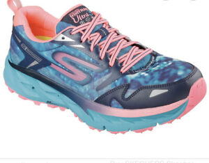 Skechers Go Trail ultra 3 Performances Navy/Teal Shoes Size 8 M women's