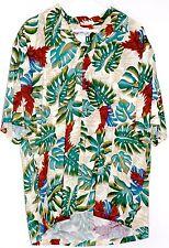 HILO HATTIE the Hawaiian Original Floral Palm Button Up Shirt XL Tiki Pocket