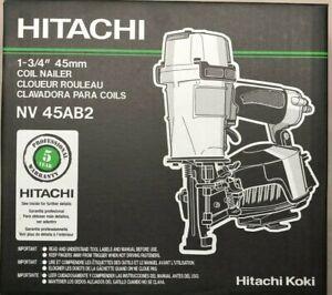 Hitachi NV45AB2 Coil Roofing Nailer Nail Gun NEW in Box